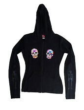 Lucky 13 women's Hoodie Light Hooded Sweatshirt Day Dead Sugar Skull Tattoo XXL