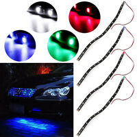 Waterproof White 30cm 15 LED 3528 SMD Flexible Strips Lights For Motorcycle Car