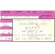 Traffic Concert Ticket Stub Sunrise Fl 7/9/94 Steve Winwood Far From Home Tour