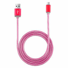 LED Light-up Glow Micro USB Data Sync Charger Cable For Android Samsung/HTC