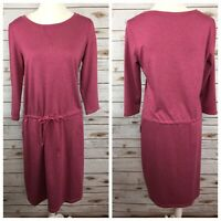 LOGO Lori Goldstein Womens Size S French Terry Dress With Drawstring Pockets