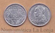 B-D-M Reunión 2 Francs 1948 Km 8 SC UNC
