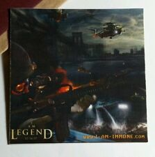 """I AM LEGEND WILL SMITH HELICOPTERS SOLDIER BOAT CRASHING  3"""" x 3"""" MOVIE STICKER"""