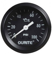 Durite 0-533-16, Mechanical Oil Pressure Gauge with 12' Capillary - 52mm