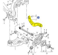 AUDI A4 A4Q S4 CABRIO 2002 -08 DRIVERS REAR UPPER TRACK CONTROL ARM 8E0505323M