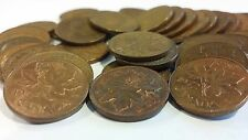 FULL ROLL 1972 CANADA ONE CENT PENNIES CIRCULATED
