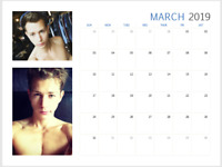 James Mcvey 2019 Glossy Calendar Unofficial, The Vamps, I'm a celebrity, Hot