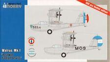 SPECIAL Hobby 1/48 MOTORE Supermarine Walrus Mk. HO POST War servizio ESTERI # 48164