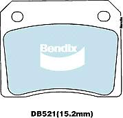 Brake Disc Pad Set  Bendix DB521 GCT For ASTON MARTIN DAIMLER FERRARI JAGUAR