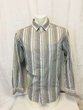 Sean John Dress Shirt Mens Large Striped Button Front Long Sleeved