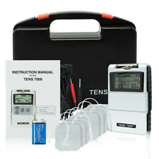 NEW TENS 7000 Digital Back Pain Relief System Unit OTC - 4 Extra Pads Included