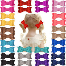 """30pcs Baby Girls Clips 2.75"""" Bling Hair Bows Alligator Clips Party Sequins Bows"""