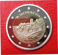 MONACO, 2 euro 2015 800 ans de la FORTERESSE, + coffret et étui. Tirage 10 000.