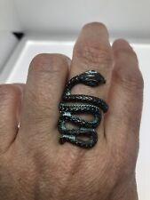 Vintage Snake Ring Copper Patina adjustable Size