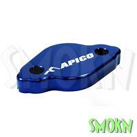 Apico Rear Brake Reservoir Cap Yamaha YZ 125 250 03-19 Master Cylinder Blue