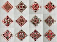 Indian Vintage Ethnic Cushion Cover Embroidery Mirror Animal Hipi Boho Gypsy