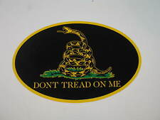 Wholesale Lot of 6 Black Gadsden Dont Tread On Me Decal Bumper Sticker