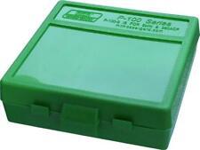 MTM PLASTIC AMMO BOX, GREEN 100 Round 9mm / 380 - BUY 5 GET 1 FREE