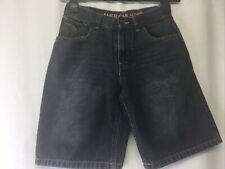 American Hawk Boy's 5 Pocket Style Solid Grey Denim Cotton Jean Shorts Size 12