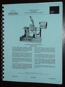 Stewart Warner Series 2000 Balancer Manual