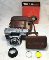 VOIGTLANDER RARE Vitessa L (BARN DOOR TYPE) 35mm R/finder Camera W/Extras 1950's