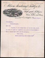 East Buffalo 1896 Milsom Rendering Fertilizer Co Grease Tallow Bones Letterhead