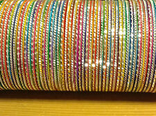 Indian Bangles in Multicolours - A set of 12 bangles