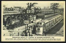 U.S. 1934 BURLINGTON ZEPHYR TRAIN BROKE WORLD RECORD