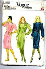 VOGUE 8148 Vintage Sewing Pattern Taglia 12 Vestito Uncut
