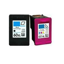 2 Pack 60XL Ink Cartridge Combo For HP 60 Photosmart D110a F2480 F2430 Printers