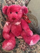 "NEW 11"" Russ Berrie Plush Posie Pink Tye Dye Teddy Bear #2B"