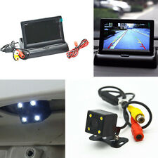 Car 4.3'' LCD Rear View Monitor Night Vision Reverse Image Waterproof LED Camera