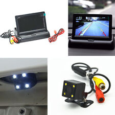 Car 4.3'' LCD Rear View Monitor Night Vision Reverse Image Waterproof LED Camera