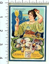 1887 Liebig Beef Extract Superb Fabulous Art Nouveau Ladies 6 Card Set F63