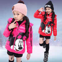 Mädchen Kinder Disney Minnie Mouse Outwear Mantel Jacken Schneeanzug Gr.104-140