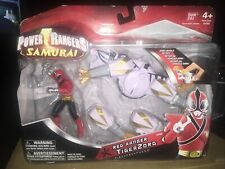 2011 BanDai Power Rangers Samurai Red Ranger Tigerzord Action Figure Set