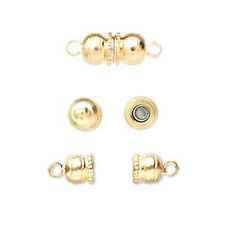 5 or 10 GP Gold Plated Magnetic Clasps, 12x6mm Double Round Ball