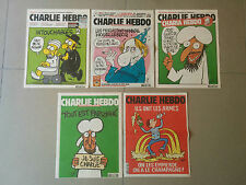 **SUPER RARE**LOT of CHARLIE HEBDO N° 1011 1057 1177 1178 1217 collection!