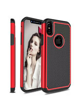Rugged Case For iPhone X / XS - Retro Fabric Case