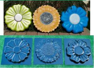 Concrete mold Paver Stepping Stone Flower Cement garden path Floral Style