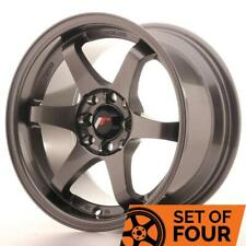 4 x Japan Racing - JR Wheels JR3 15x8 ET25 4x114.3/100 Gunmetal