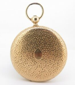 .Antique 1853 Patek Philippe 18k Yellow Gold Vermicelle Pocket Watch & Extract