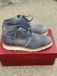 Wolverine Liam Men's Chukka Boots Grey Distressed Leather Size 8 ankle