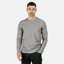 Regatta Men's Karter Coolweave Long Sleeved T-Shirt - Grey