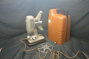 Revere Model P-90 8mm Movie Projector W/ Case & Original Box Tested Works -A18