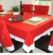 New Christmas Tablecloth Decoration Table Cloth Snowflake Chair Back Red Covers