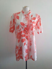 Beachy Style! Animale size L peach & white cotton top in excellent condition