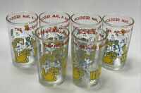 """6 VTG Welch's 1971 Archie Comics """"The Archies Having A Jam Session"""" Glasses AA"""