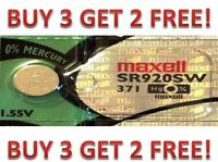 371 MAXELL WATCH BATTERIES SR920SW SR920 371 D370 A6 NEW BUY 3 GET 2 FREE!!