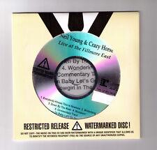 Sellado advnc PROMO acetato CD LIVE AT THE FILLMORE EAST Neil Young & Crazy